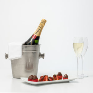 Moet Chandon Champagne With Strawberries