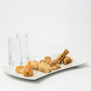 Selection Of Greek Desserts