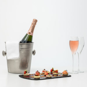 Veuve Clicquot Rose With Canapes
